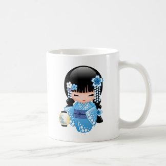 Mug Poupée de Kokeshi d'hiver - fille de geisha