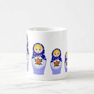 Mug Poupées de Matryoschka bleues