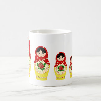 Mug Poupées de Matryoschka rouges