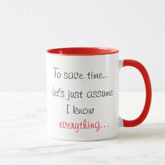 Mug Pour épargner le temps nous a laissés juste