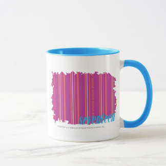 Mug Pourpre mince 2 de rayures