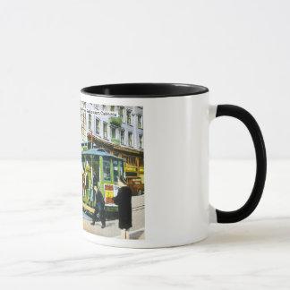 Mug Powell et rues du marché, San Francisco, CA