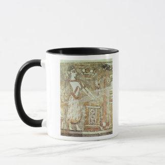 Mug Prêtresse à un autel, détail d'a