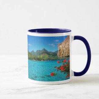 Mug Prière et Bora Bora 2-SIDED de sérénité