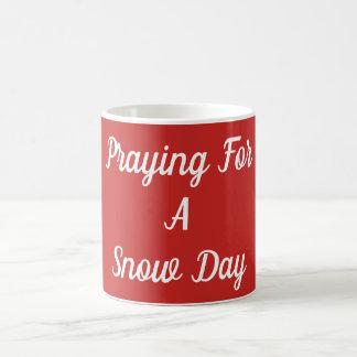 Mug Prière pendant un jour de neige
