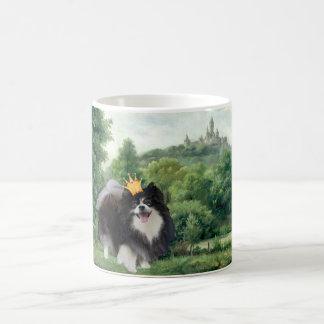 Mug Prince noir de Pomeranian