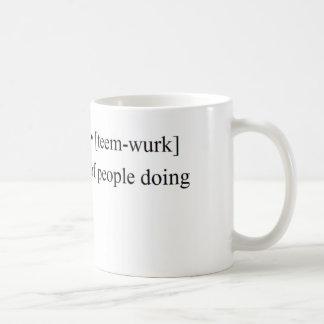 Mug Produits drôles de travail d'équipe