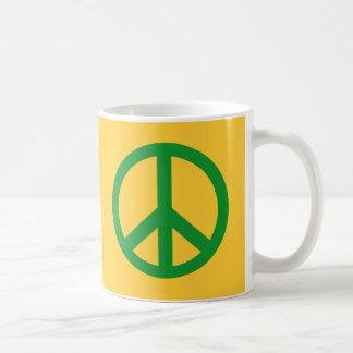 Mug Produits verts de signe de paix