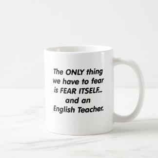 Mug Professeur d'Anglais de crainte
