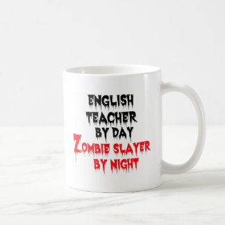 Mug Professeur d'Anglais par le tueur de zombi de jour