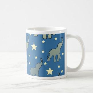 Mug Profil sous convention astérisque bleu d'éléphants