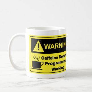 Mug Programmeur d'avertissement de caféine