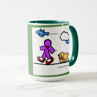 Mug Promenade heureuse d'art
