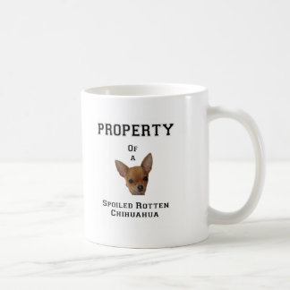 Mug Propriété d'un chiwawa putréfié corrompu