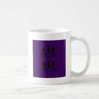 Mug PRUNE POURPRE vintage   d'ornements pourpres