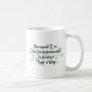 Mug Puisque je suis le scientifique de l'environnement