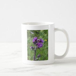Mug purple thistle