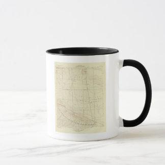 Mug Quadrilatère de Palmdale montrant la crevasse de