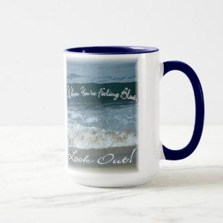 Mug Quand vous vous sentez bleus regardez (bel océan)