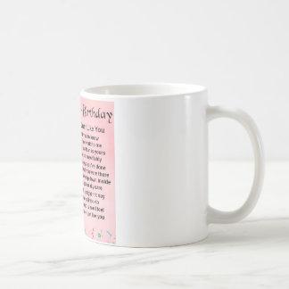 Mug quarantième anniversaire - poème de soeur