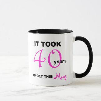 Mug quarantième Idées de cadeau d'anniversaire pour la