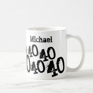 Mug Quarantième nom personnalisé de coutume