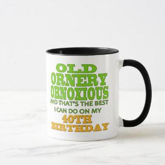 Mug quarantième T-shirts et cadeaux d'anniversaire