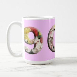 Mug quatre-vingt-dixième Conception florale