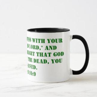 """Mug Que si vous admettez avec votre bouche, """"Jésus"""