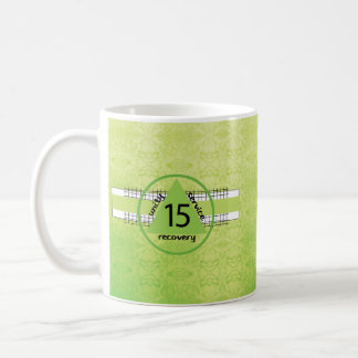 Mug Quinzième symbole d'anniversaire de récupération