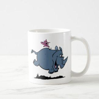 Mug R est pour le rhinocéros