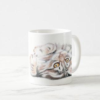 Mug Ragondin mignon Kitty du Maine d'aquarelle