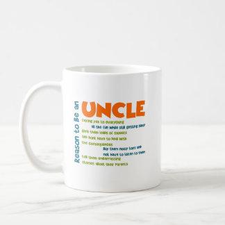 Mug Raison d'être un oncle Orange Blue et mots de vert