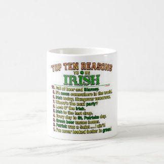 Mug Raisons de Top Ten d'être irlandais
