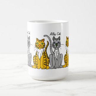 Mug Rangée mignonne drôle des chats d'allée de bande