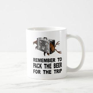 Mug Rappelez-vous d'emballer la bière pour le voyage