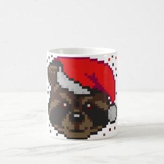 Mug Raton laveur en pixels de bête perdue du casquette