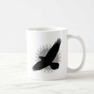 Mug Raven en vol
