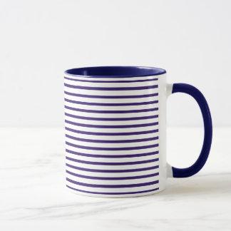 Mug Rayures de marin - bleu marine et blanc