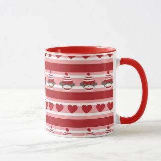 Mug Rayures de singe de chaussette de Valentine