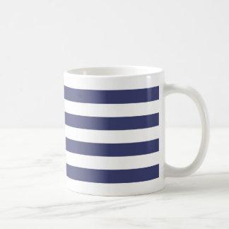 Mug Rayures nautiques de bleu marine et de blanc