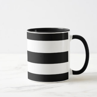 Mug Rayures noires et blanches