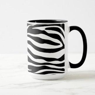 Mug Rayures noires et blanches de zèbre ; Tableau