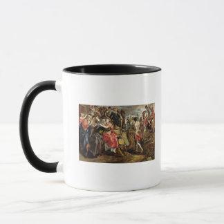Mug Rebecca offrant l'adieu à sa famille, c.1562