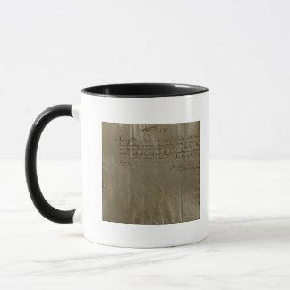Mug Reçu de rémunération, le 17 décembre 1704
