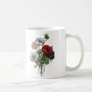 Mug Redoute : Anémone, 1833