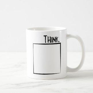 Mug Remerciez en dehors de la typographie de coquille