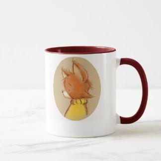 Mug renard dans le col roulé