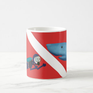 MUG RENCONTRE DE REQUIN D'AMUSEMENT, PLONGEUR