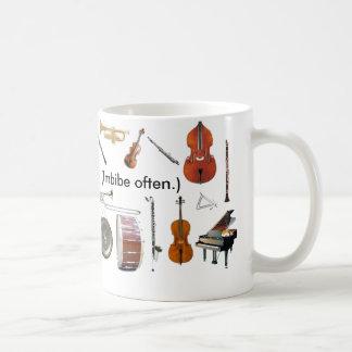 """Mug Repérage. 11 onces. La """"musique est la vie !"""